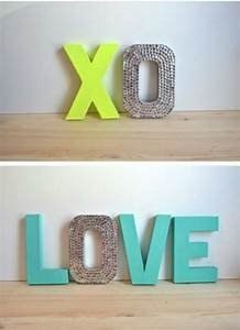 14 ways to decorate cardboard letters cardboard letters With cardboard wall letters