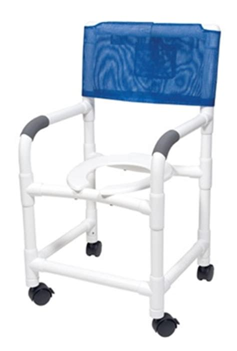 lumex pvc shower chair with commode opening 22 quot with footrest