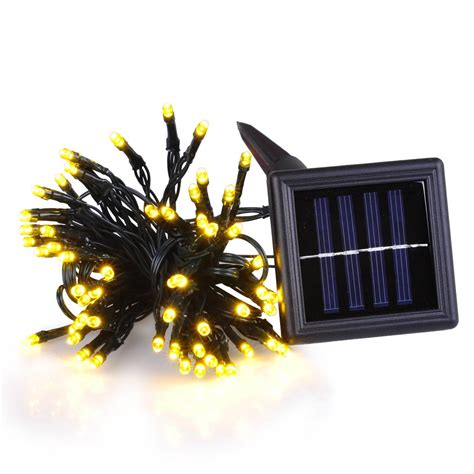 100 200 led solar power string light garden