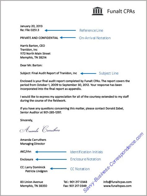 business letter enclosure elements of a business letter
