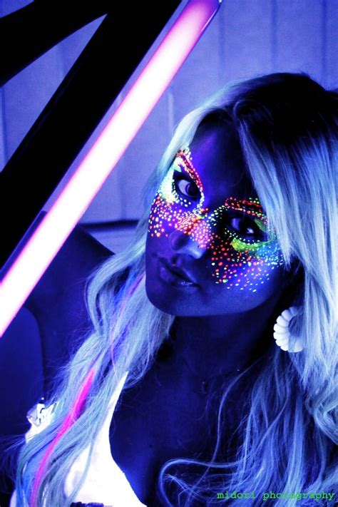 black light glow party blacklight art face paint glow party pinterest