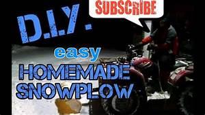 D I Y   Cheap Homemade Atv Snowplow