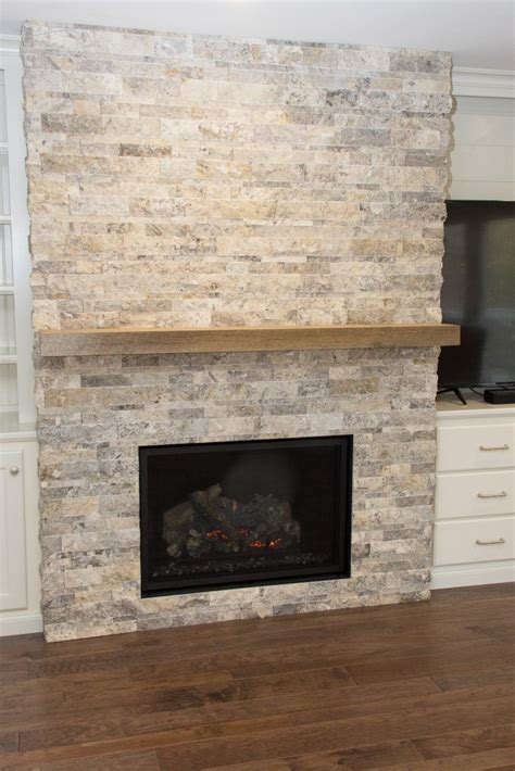 fireplace tile anatolia silver ash travertine split