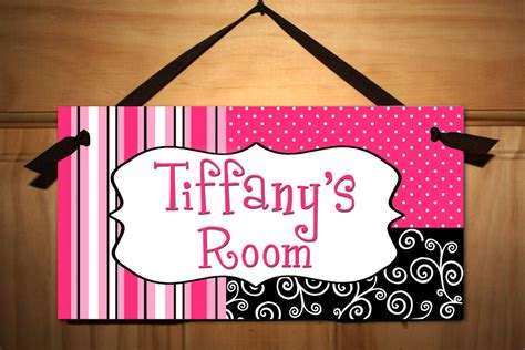 Posh Girl Teen Door Sign Kids Bedroom Playroom Wall Art