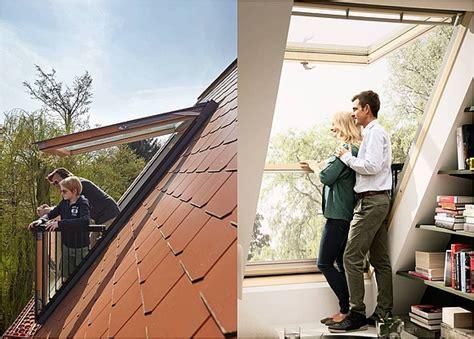 velux cabrio fenster so funktioniert das dachfenster mit balkon