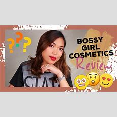 Full Glam Makeup Look Bossy Girl Cosmetics Review Youtube