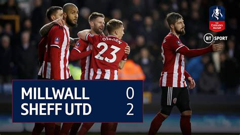 Millwall vs Sheffield United (0-2) | Emirates FA Cup ...