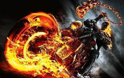 Rider Ghost Wallpapers Skull Fire Bike Spirit