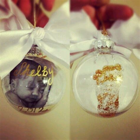 baby s first christmas ornament diy diy baby s first