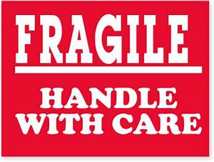 Fragile Stickers & Fragile Labels - Free Shipping