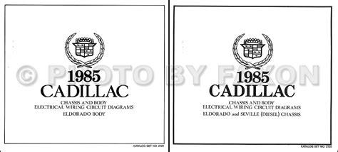 Cadillac Eldorado Diesel Wiring Diagram Set Color