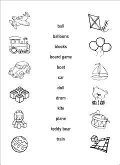 toys vocabulary  kids learning english matching game
