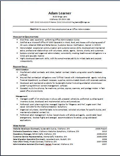 exle of functional resume 28 images functional resume