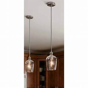 Allen roth in w brushed nickel mini pendant light