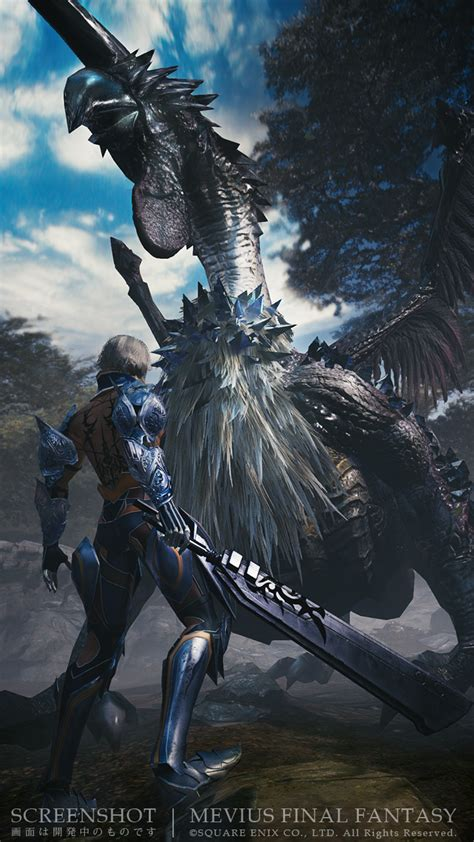 mevius final fantasy fighting monsters   armored