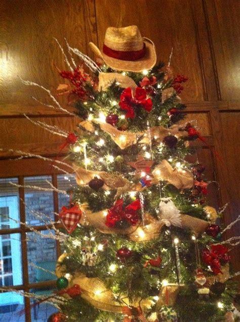 Cowboy Christmas Tree Mobawallpaper