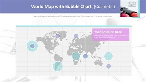 world map  bubble chart cosmetic
