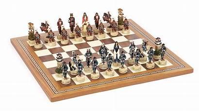 Chess Samurai Board Mosaic Chessmen Resin Japanese