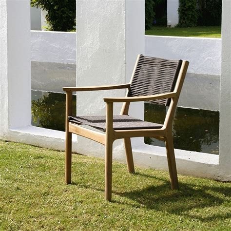 barlow tyrie monterey teak cord dining armchair