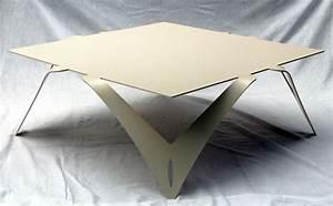 Table Basse Blanche Design : table basse blanche ivoire table basse carr e design m tal ~ Preciouscoupons.com Idées de Décoration