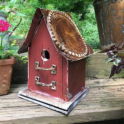 barn wood tin birdhouses rustic birdhouse unique