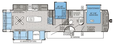 2016 fifth wheel floor plans bunkhouse 2016 eagle fifth wheel floorplans prices jayco inc