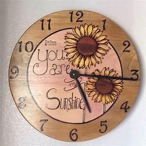 Customizable, Clock, Wood, Burn