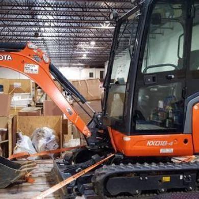 kubota kx  mini excavator  cab  ac  sale  united states