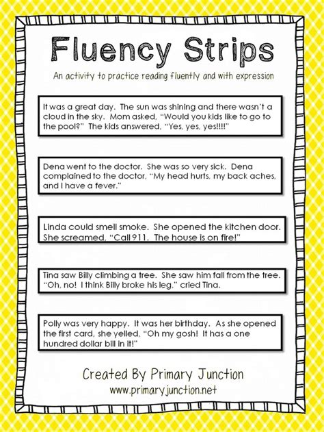 fluency stripspdf google drive reading fluency