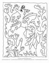 Coloring Sea Seaweed Kelp Sheets Printable Dragon Creatures Cartoon Under Ocean Seahorse Leafy Wonderweirded Silhouette Template Ll Seadragon Getcolorings Worksheets sketch template