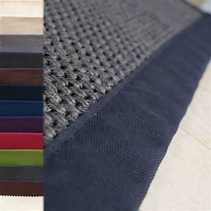 tapis en sisal ganse tresse gris fonce personnalisable With tapis sisal gris