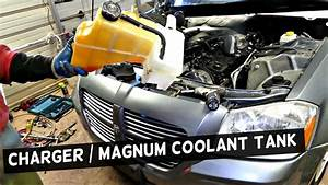 Dodge Charger Coolant Reservoir Tank Removal Replacement