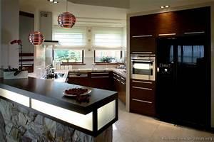 Pictures of Kitchens - Modern - Dark Wood Kitchens