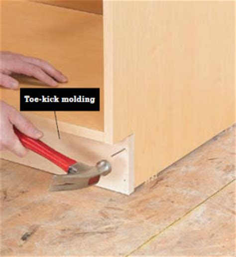 installing toe kick on kitchen cabinets