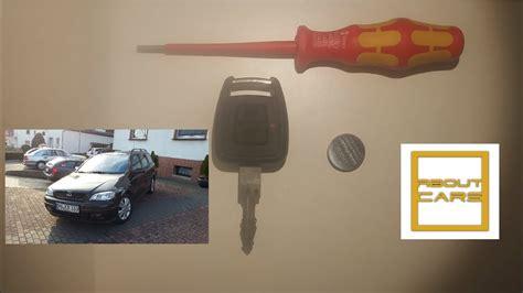 opel astra  schluessel batterie wechseln anlernen key