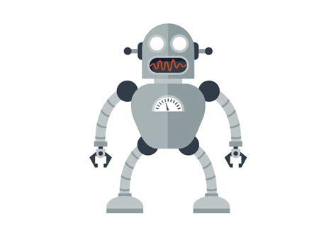 Cartoon Robot Free Vector Illustration