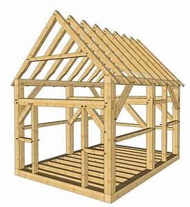 12x16 Post and Beam Cabin - Timber Frame HQ