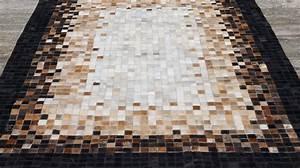 tapis en peaux de vache haut de gamme tapis patchwork With tapis peau de vache avec canape occasion convertible