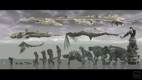 Shadow Of The Colossus Colossi Sizes Montage Youtube