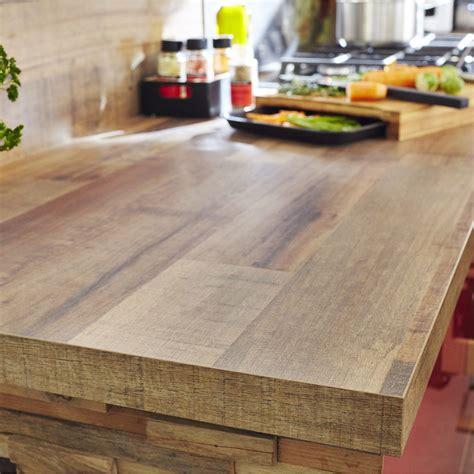 plan de travail cuisine stratifié leroy merlin plan de travail stratifié effet bois cabane mat l 315 x p