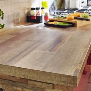 plan de travail stratifie effet bois cabane mat l315 x p With plan de travail exterieur bois