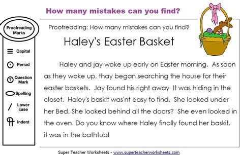 editing easter basket paragraph