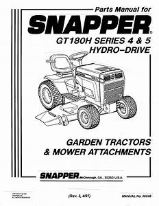 Snapper Lawn Mower Gt180h Series 4 User Guide