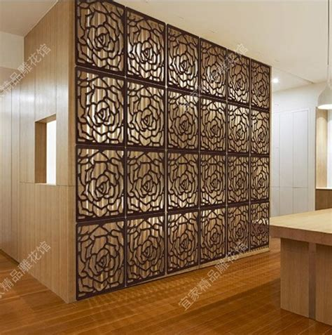 wooden room divider carved high quality style wood panel folding screen cheap folding