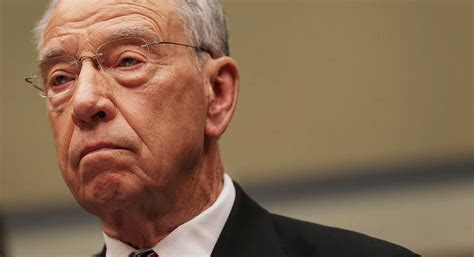 Grassley rips Trump administration for blowing off certain