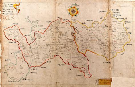 ireland barony maps county westmeath  brown collection