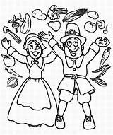 Coloring Thanksgiving Parade Joyful Canada Cheering Pilgrim Couple Means Turkey Colorluna sketch template