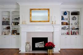 Images Of Fireplaces With Bookcases Houses Plans Designs Fireplace Wall Ideas Fireplace Fireplace Electric Fireplaces Fireplace Fireplace Surround Ideas In Home Office Traditional With Built In Ideas For Bookcases Around