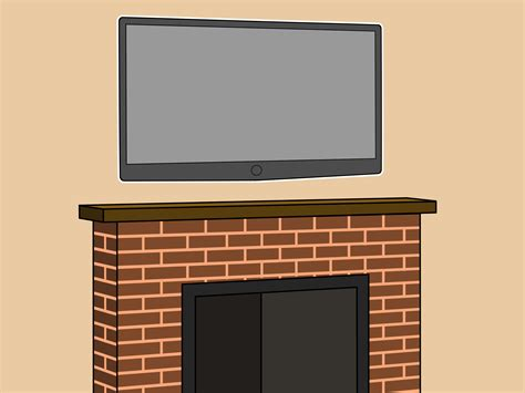 hanging a tv above fireplace how to hang a plasma tv the fireplace 6 steps