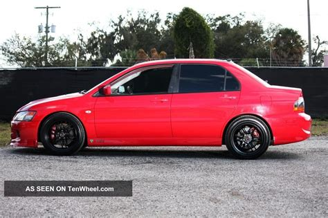 mitsubishi evolution 2005 2005 mitsubishi lancer evolution 8 gsr red 45k ets buschur